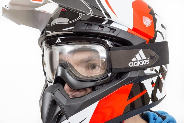 Motocross helmet with optical MotoX goggles from SK-X