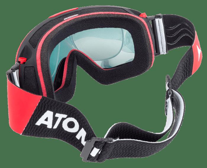 Rear view of SK-X optical ski goggles