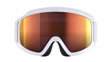 SK-X ski goggles OPSIN Clarity by POC in the colors hydrogen white / spectris orange