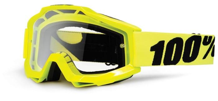 Lunettes de motocross SK-X Ride 100% Accuri jaune