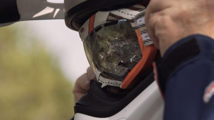 Pilota di motocross con con vetri ottici di SK-X