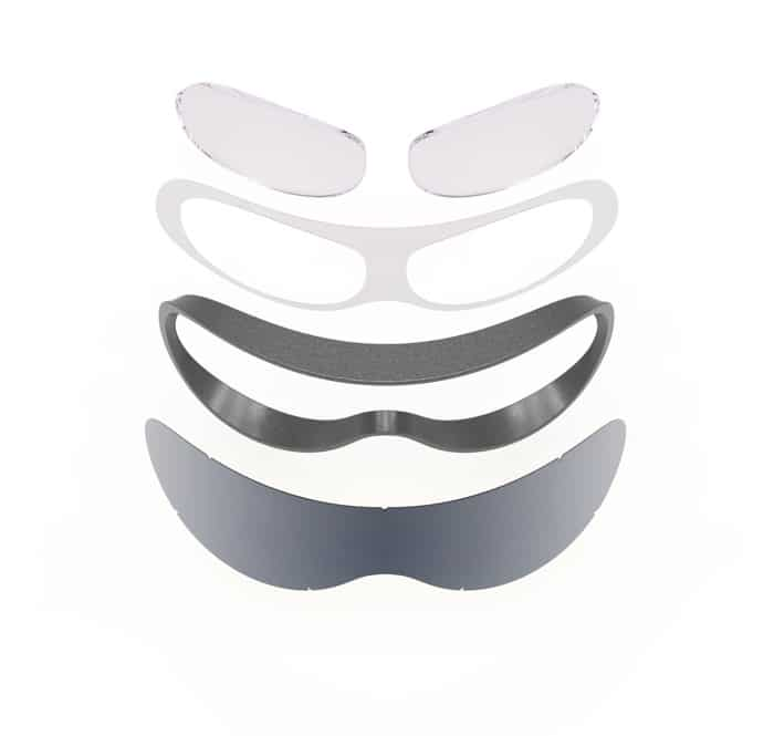 Struttura dell'adattatore SK-X vetrata vista frontale