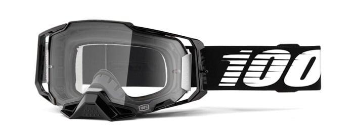 SK-X Motocross-Brille Ride 100% Armega schwarz